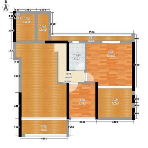 大学印象2室0厅1卫0厨114.00㎡户型图