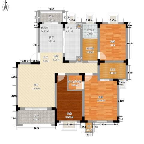 宏图上逸园3室0厅1卫1厨139.00㎡户型图