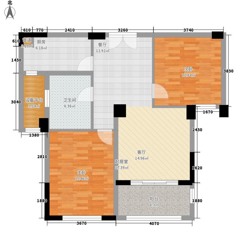 长泰国际社区88.90㎡A2户型2室2厅