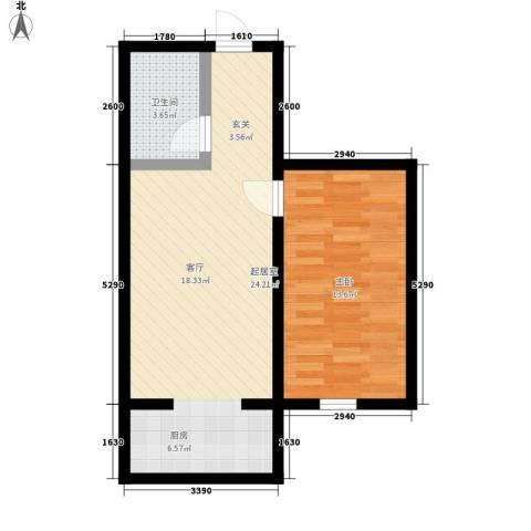 锦江花园三区1室0厅1卫0厨47.00㎡户型图