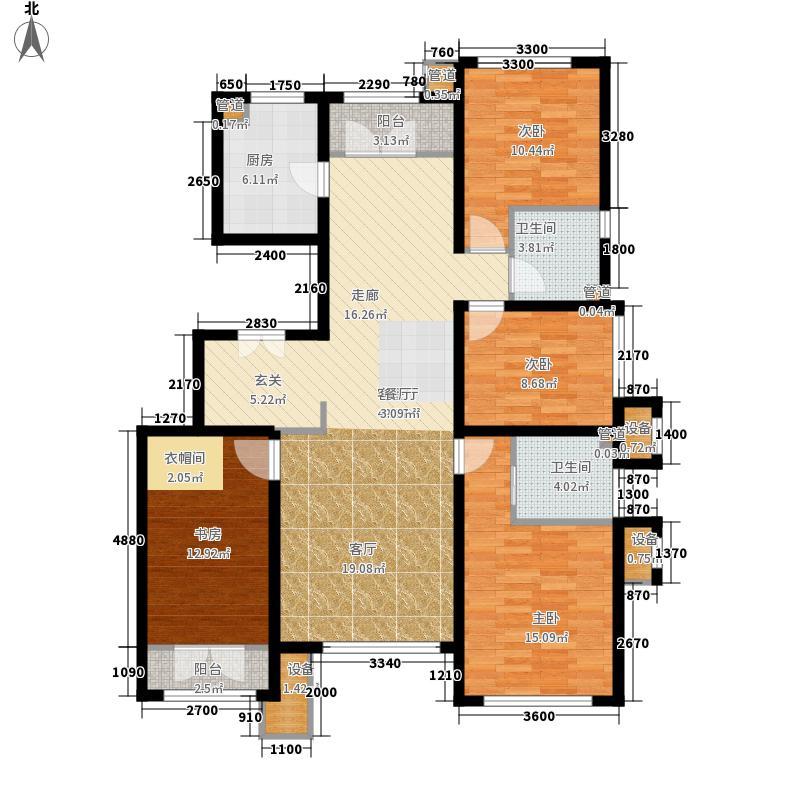 亿城堂庭149.02㎡三期高层标准层S户型