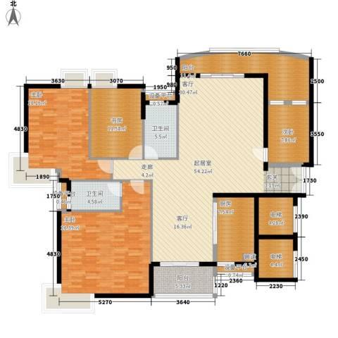 岳麓1号4室0厅2卫1厨163.21㎡户型图