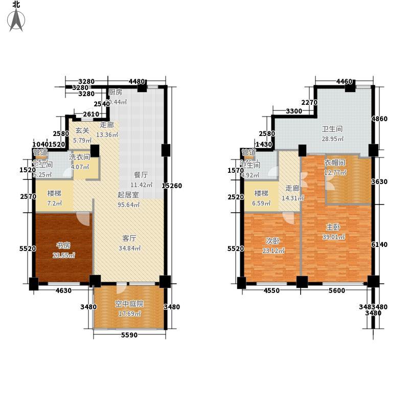 海御19290.00㎡海御尊墅户型3室2厅3卫