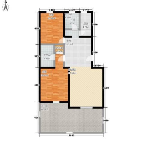 锦绣家园2室0厅2卫1厨171.00㎡户型图