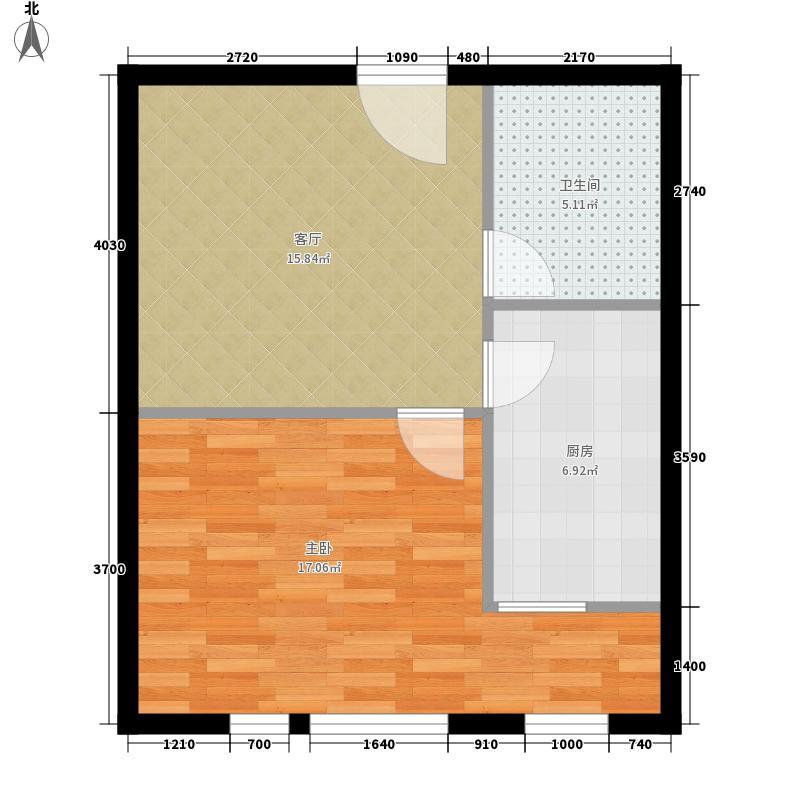 丁豪广场户型图温馨雅致 1室1厅1卫1厨