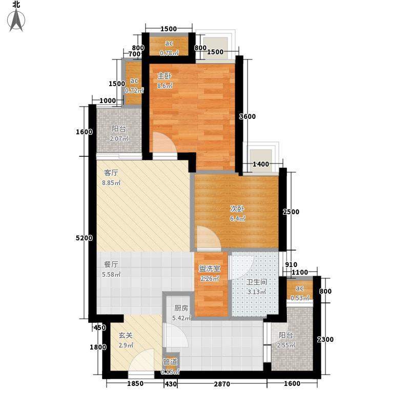 万科金域学府B迷你户型2室2厅