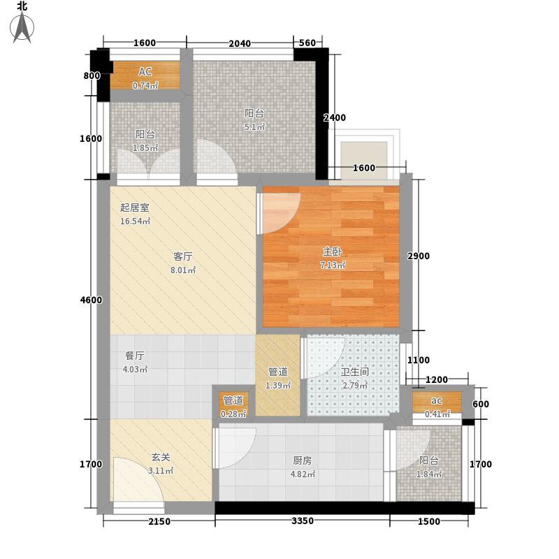 万科金域学府翰林一期多能小户B户型1室1厅
