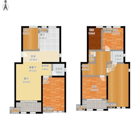 叶与城4室1厅2卫1厨238.00㎡户型图