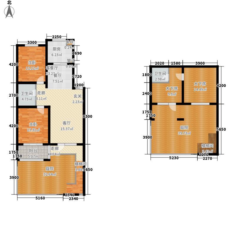 兴龙生态谷96.00㎡6+1多层C1下跃户型2室2厅