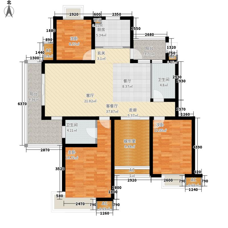 香城颐园户型图C1户型 3室2厅2卫