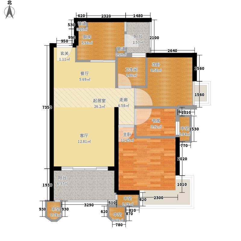 锦绣香江锦绣香江户型图6栋01单位2室2厅1卫户型2室2厅1卫