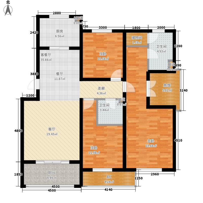 兴龙生态谷137.02㎡6+1多层G户型3室2厅