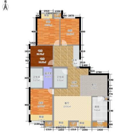 凯德锦绣3室0厅2卫1厨167.00㎡户型图