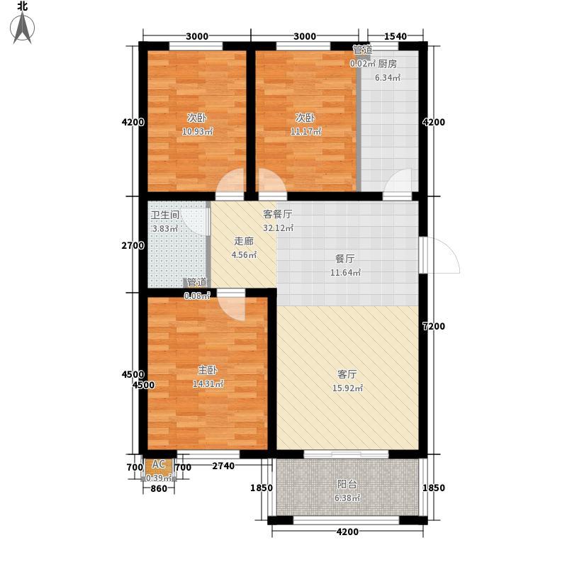 兴龙生态谷107.68㎡6+1多层D户型3室2厅