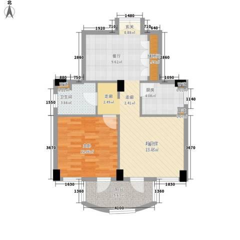 碧云东方公寓1室0厅1卫1厨63.10㎡户型图