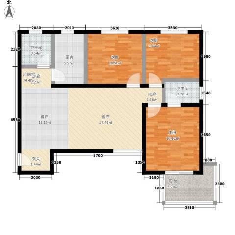 澳城大厦3室0厅2卫1厨126.00㎡户型图