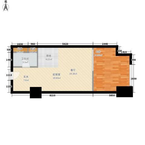 赛格国际公寓1室0厅1卫0厨55.00㎡户型图