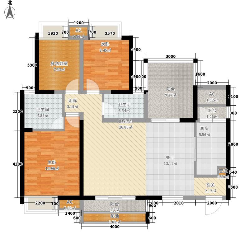 翡翠城(锦江)118.00㎡5期A3户型4室2厅2卫1厨