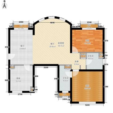 碧云东方公寓2室0厅2卫1厨103.94㎡户型图