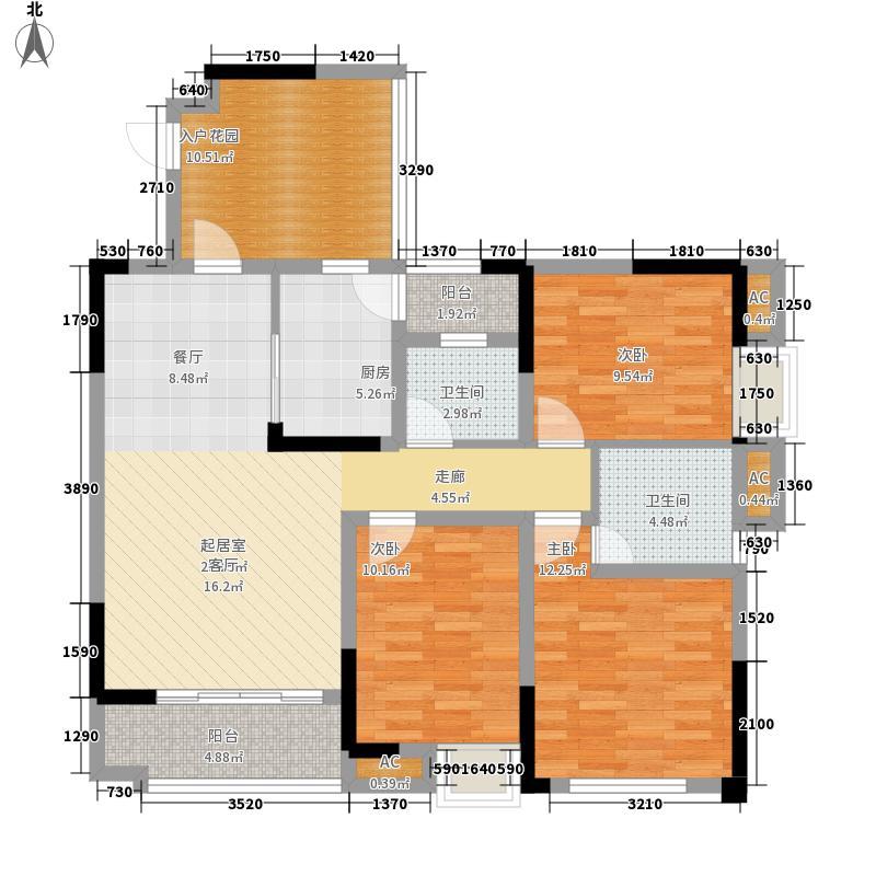 信地兰卡威112.04㎡2号楼E1户型3室2厅2卫1厨