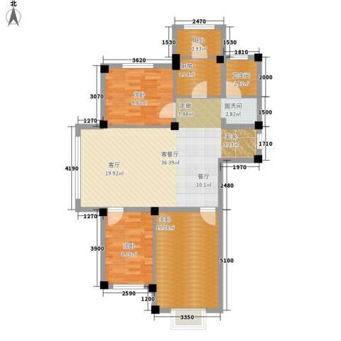 实华・新兴佳园3室1厅1卫1厨113.00㎡户型图