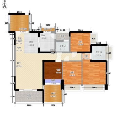 锦绣东方4室1厅2卫1厨109.83㎡户型图