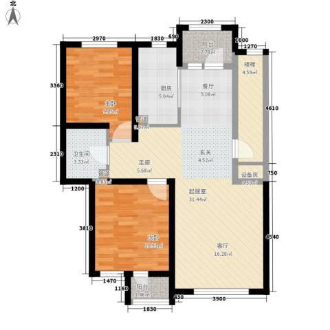 国际花都2室0厅1卫1厨82.00㎡户型图