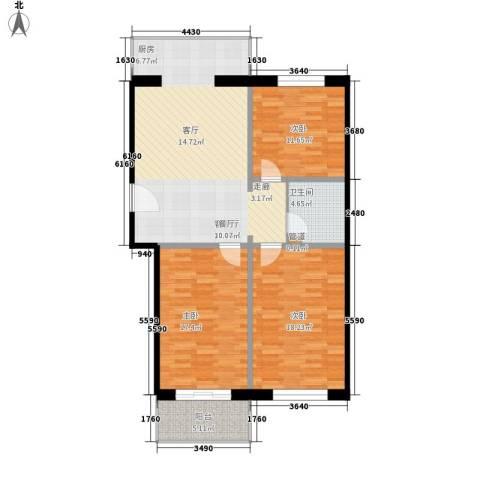 花间小镇3室1厅1卫0厨104.00㎡户型图
