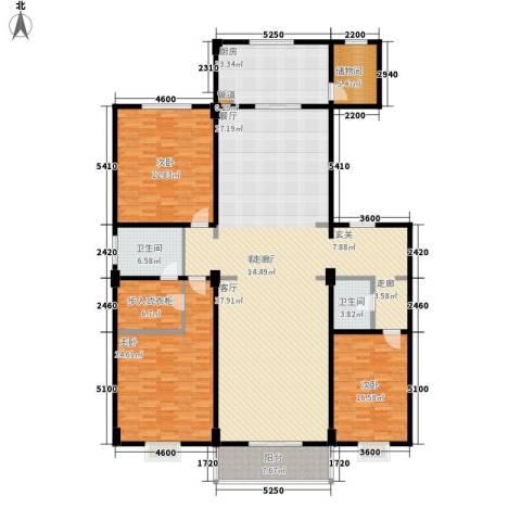 都市广场3室1厅2卫1厨246.00㎡户型图