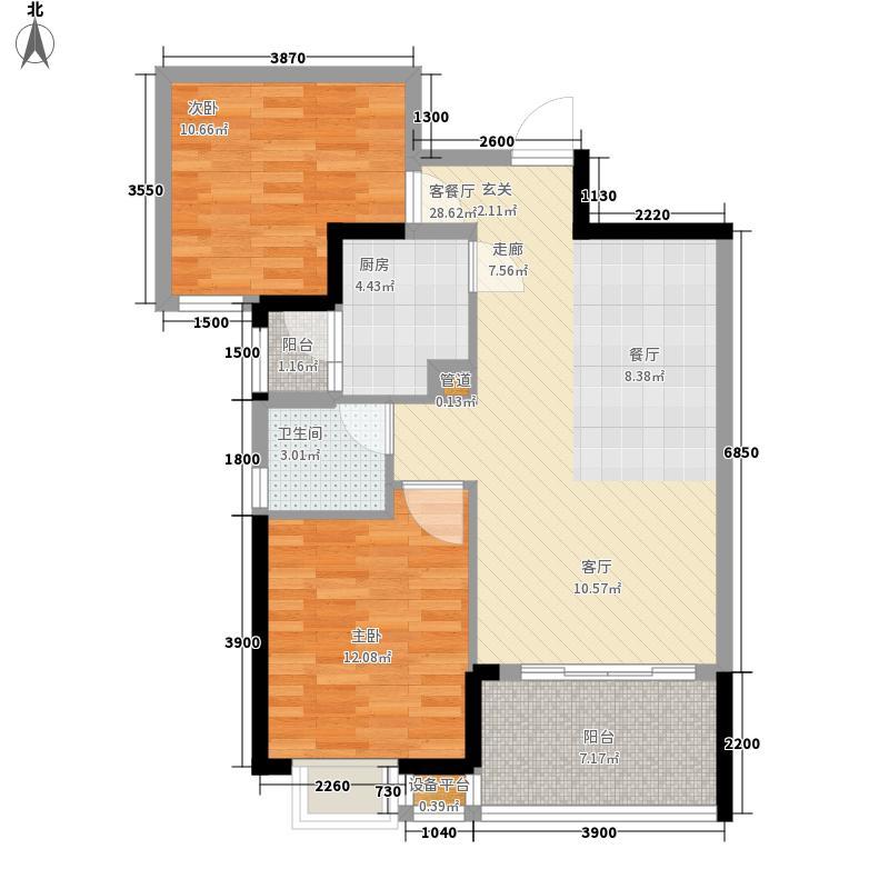 桐景花园户型图户型图 2室2厅1卫1厨