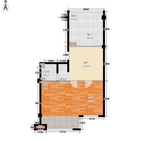 盛福家园1室1厅1卫1厨72.00㎡户型图