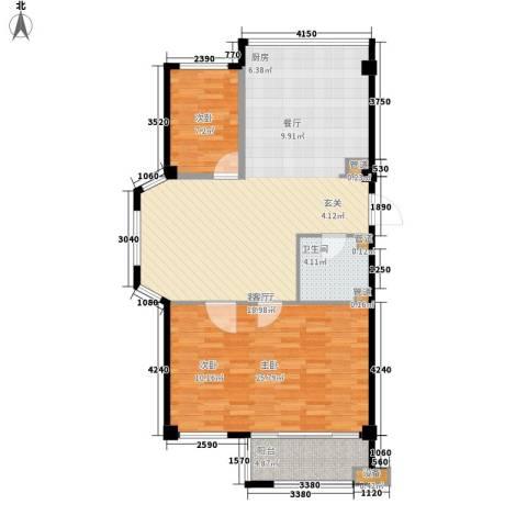 盛福家园2室1厅1卫0厨92.00㎡户型图