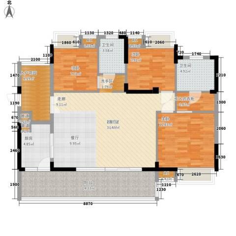 优山美地(别墅)3室0厅2卫1厨146.00㎡户型图