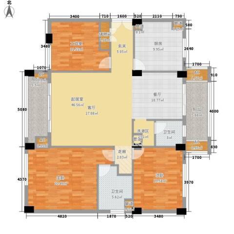 碧云东方公寓2室0厅2卫1厨142.48㎡户型图