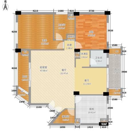 碧云东方公寓2室0厅2卫1厨130.98㎡户型图