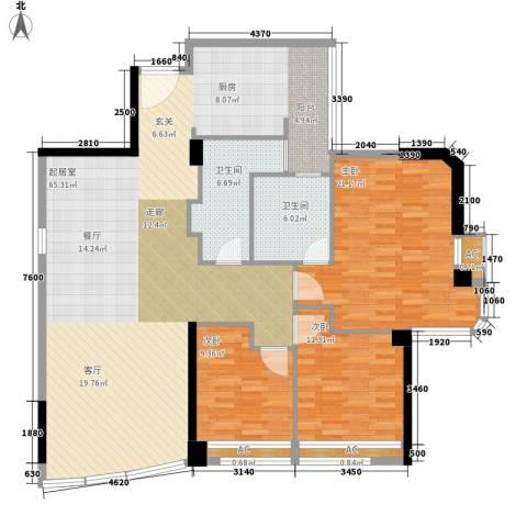 世纪银座3室0厅2卫0厨170.00㎡户型图