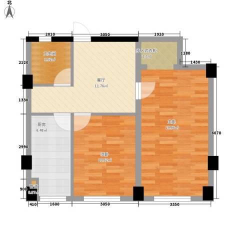实华・新兴佳园2室1厅1卫1厨75.00㎡户型图