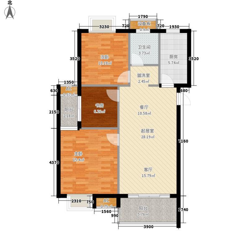 和昌中央城邦90.22㎡和昌中央城邦户型图一期高层C1户型3室2厅1卫1厨户型3室2厅1卫1厨