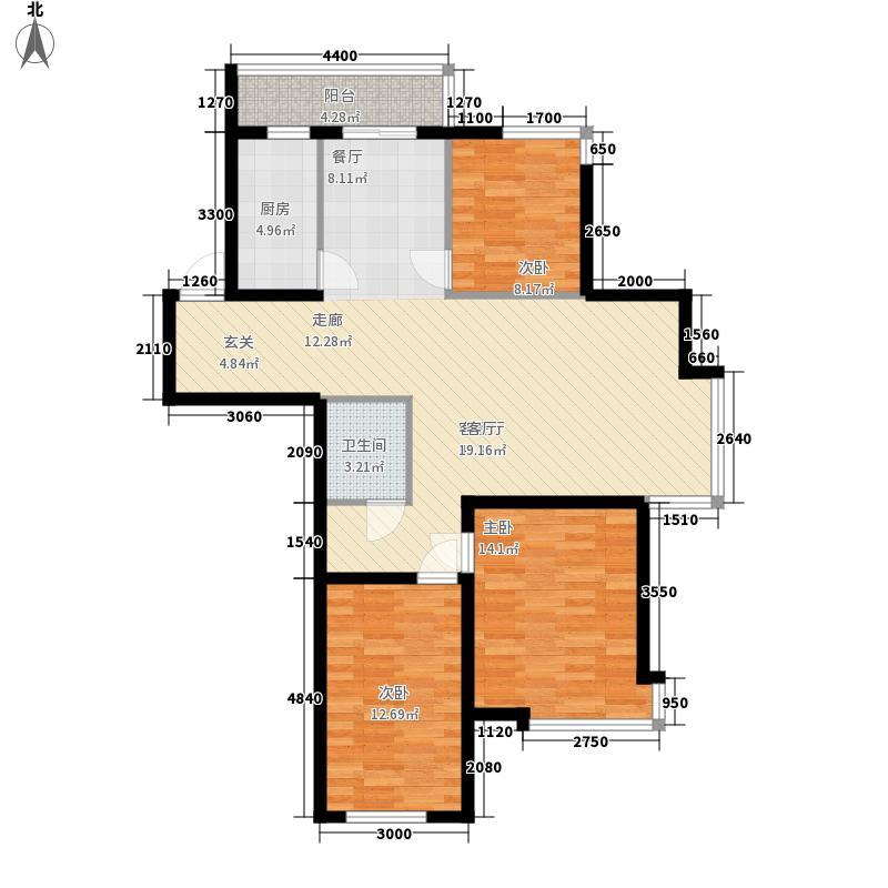 宏庭伟岸120.60㎡宏庭伟岸户型图3室2厅1卫户型10室