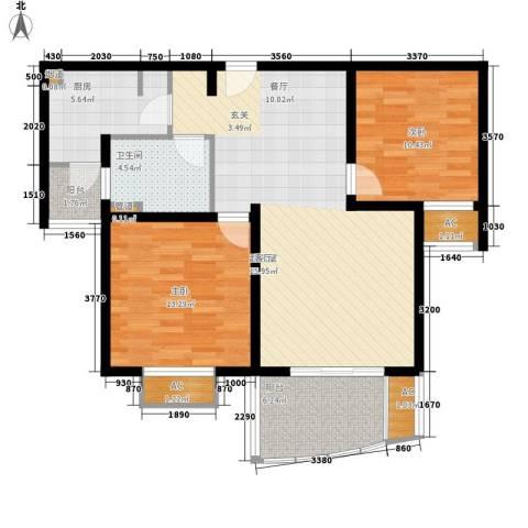 杉林新月家园2室0厅1卫1厨85.00㎡户型图