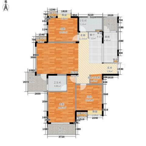 金浦名城世家3室0厅2卫1厨135.00㎡户型图