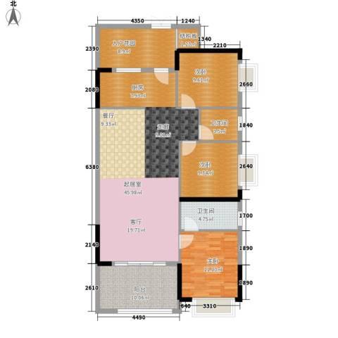 恒基御景华庭3室0厅2卫0厨113.00㎡户型图