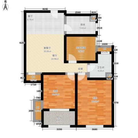 中奥珑郡2室1厅1卫1厨89.00㎡户型图
