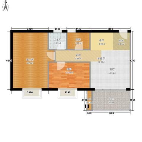 雍逸华庭1室1厅1卫1厨89.00㎡户型图