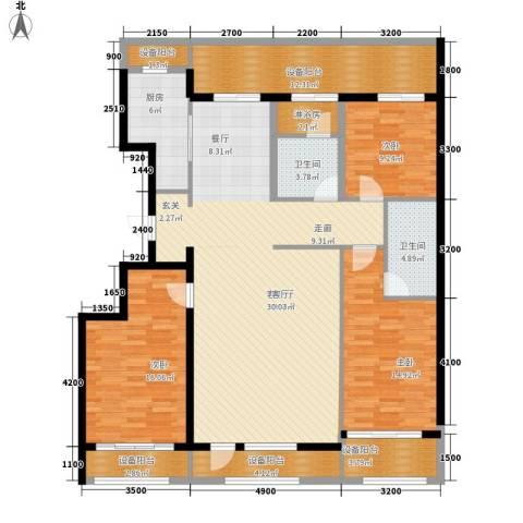 绿城沈阳全运村3室1厅2卫1厨186.00㎡户型图