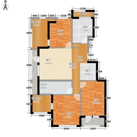 绿城沈阳全运村3室1厅1卫1厨144.00㎡户型图
