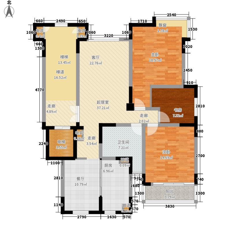 书院巷136.00㎡书院巷3室户型3室