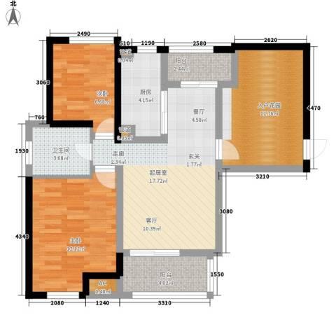 绿地香颂公寓2室0厅1卫1厨94.00㎡户型图