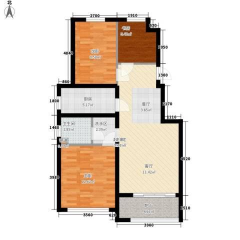 金色骑士三期3室0厅1卫1厨92.00㎡户型图