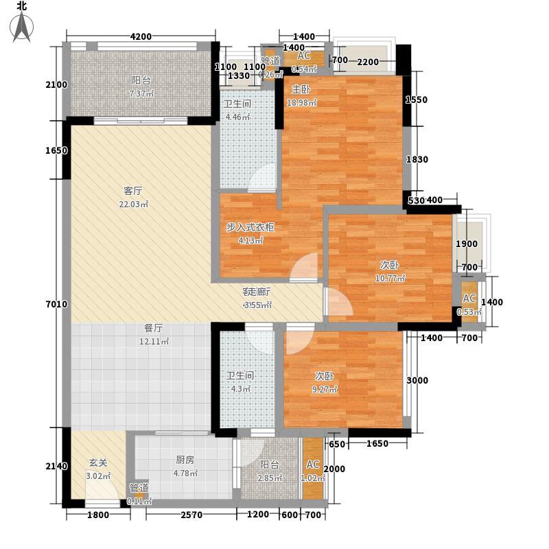 国际社区108.00㎡一期海悦府11/12号楼标准层2号房户型